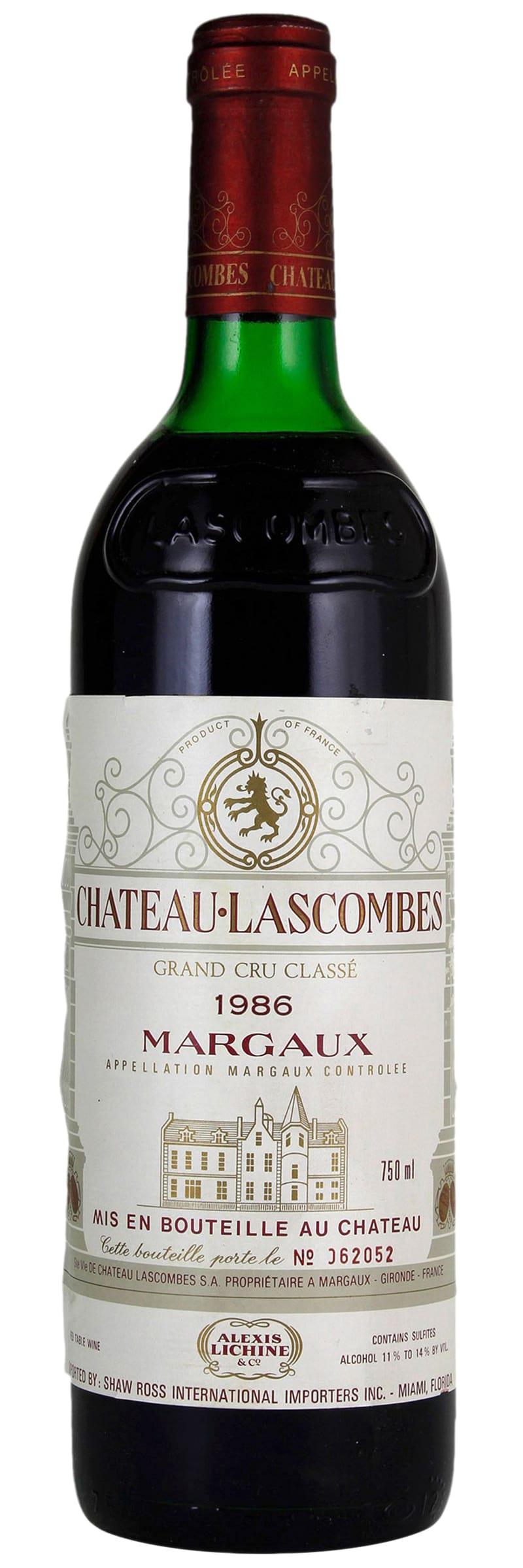 1986 Chateau Lascombes Margaux AOC фото