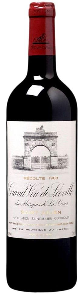 1988 Chateau Leoville Las Cases Grand Vin de Leoville Saint-Julien фото