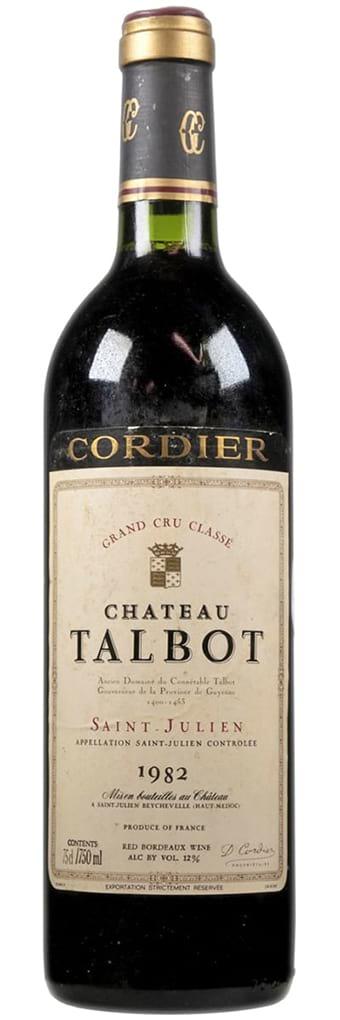 1982 Chateau Talbot Сordier St.-Julien AOC фото