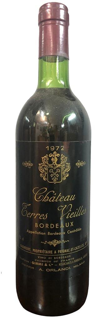1972 Chateau Terres Vieilles Bordeaux фото