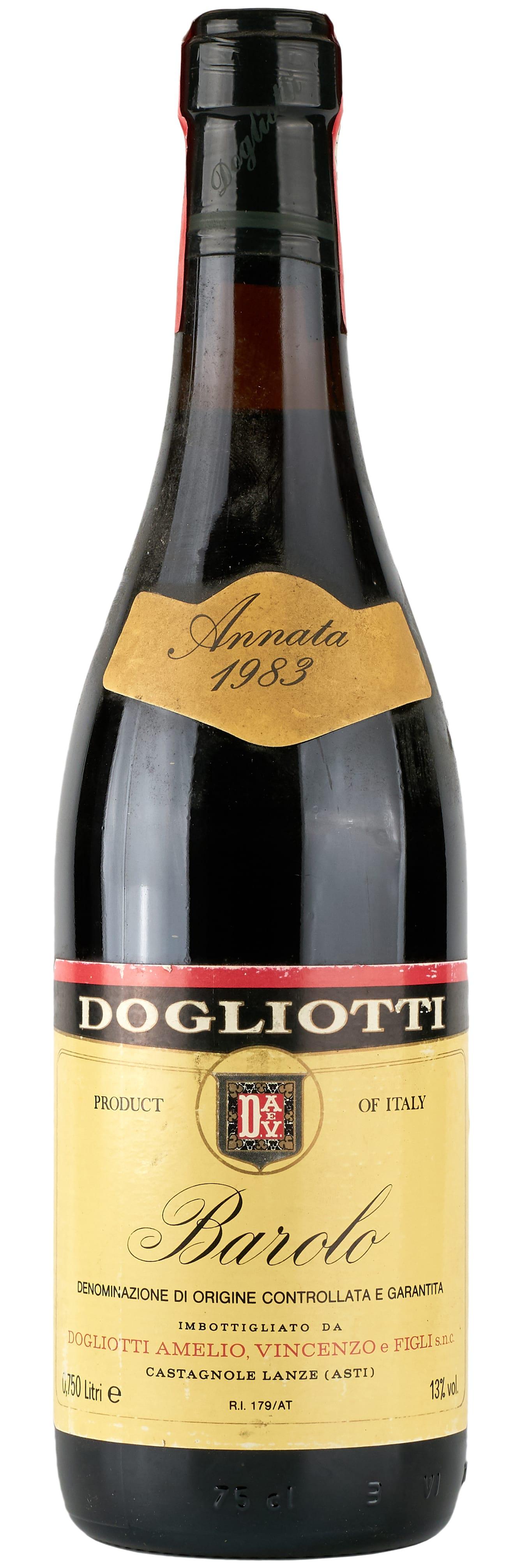 1983 Dogliotti Amelio Vincenzo & Figli Barolo фото