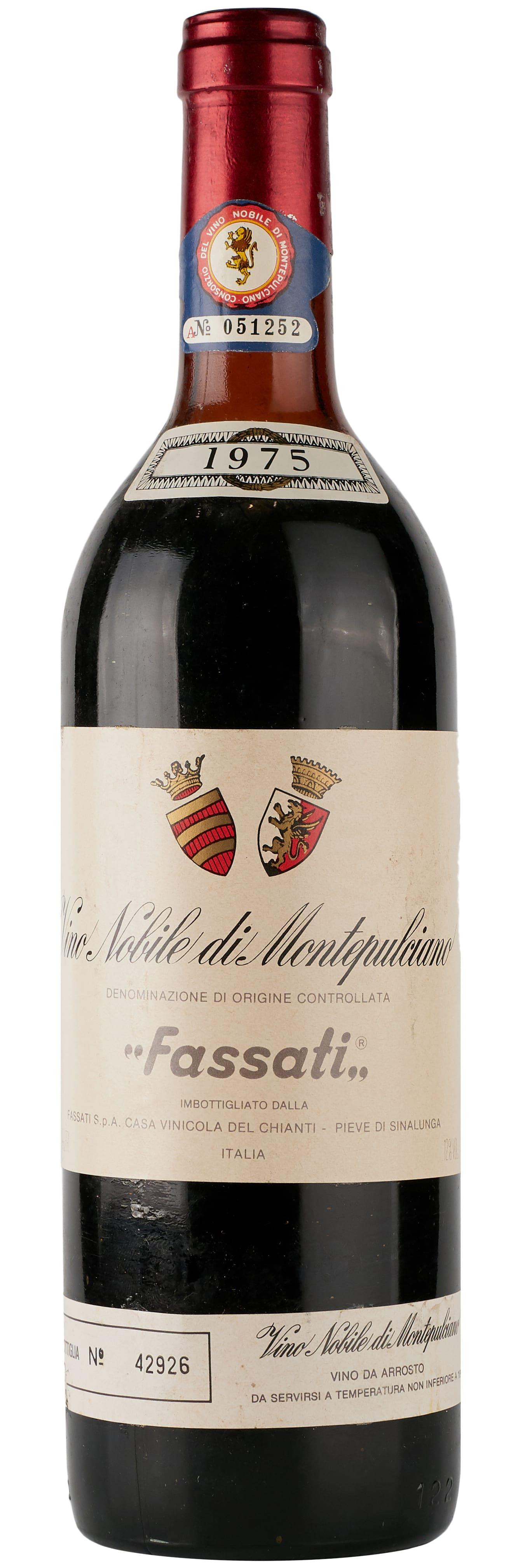 1975 Fassati Vino Nobile di Montepulciano фото