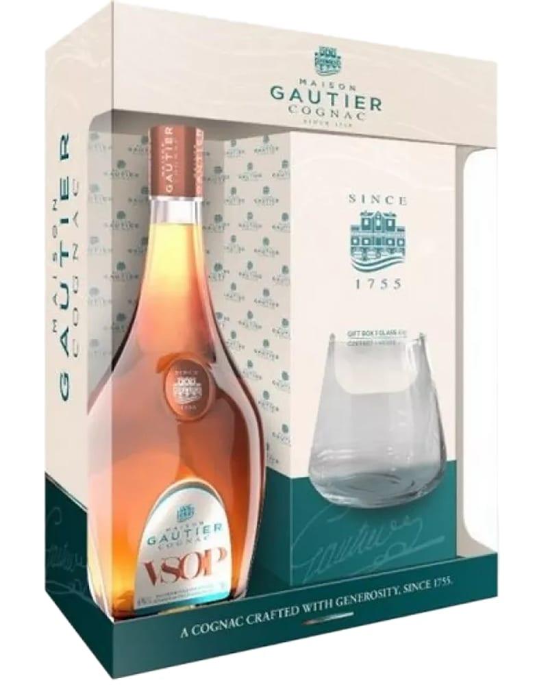 Gautier VSOP gift box & glass фото