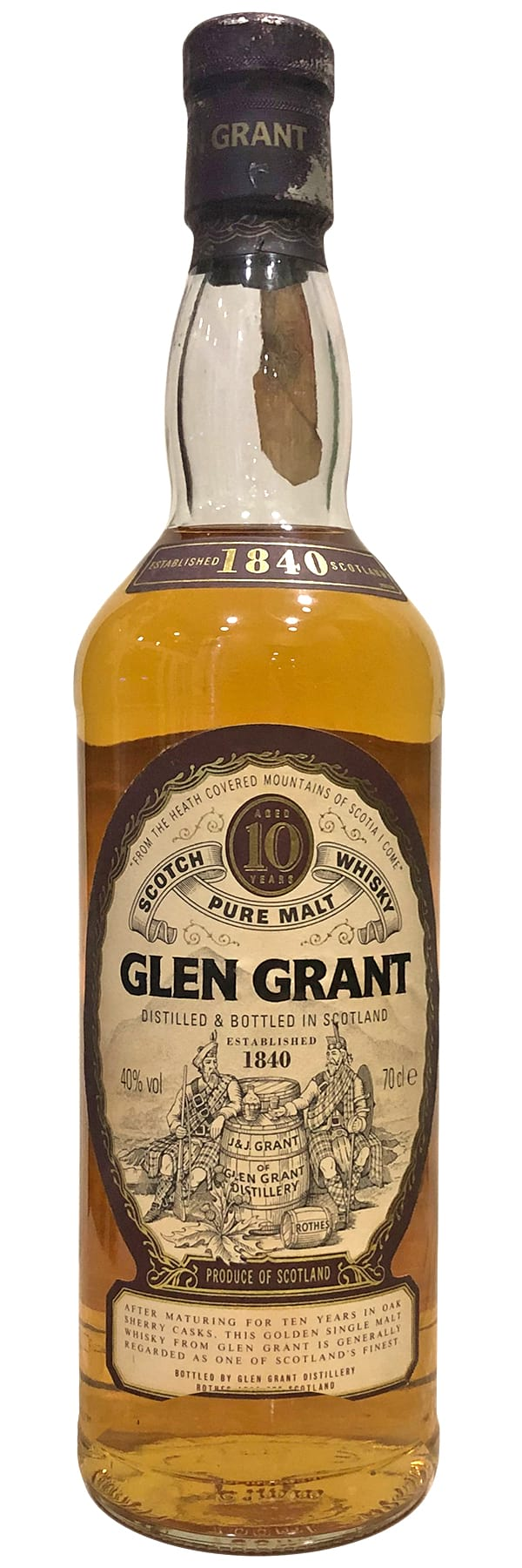 Glen Grant Pure Malt 10 Years Old 1980s фото