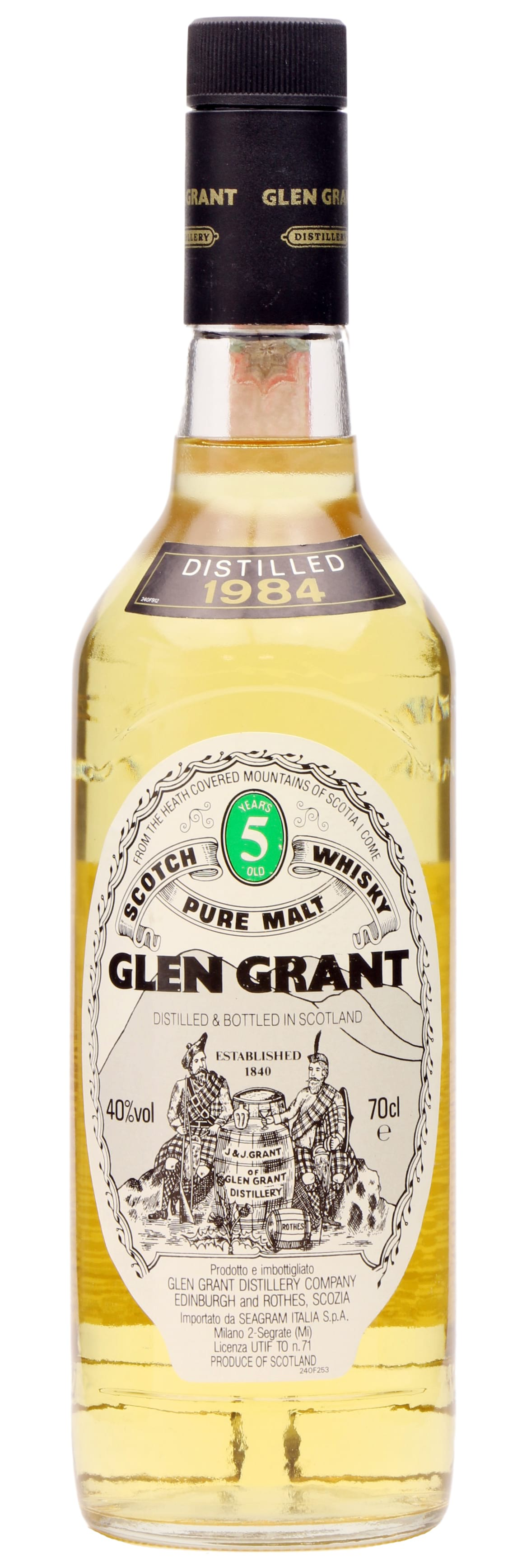 1984 Glen Grant Pure Malt 5 Years Old фото
