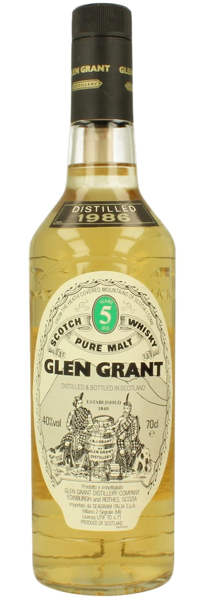 1986 Glen Grant Pure Malt 5 Years Old фото