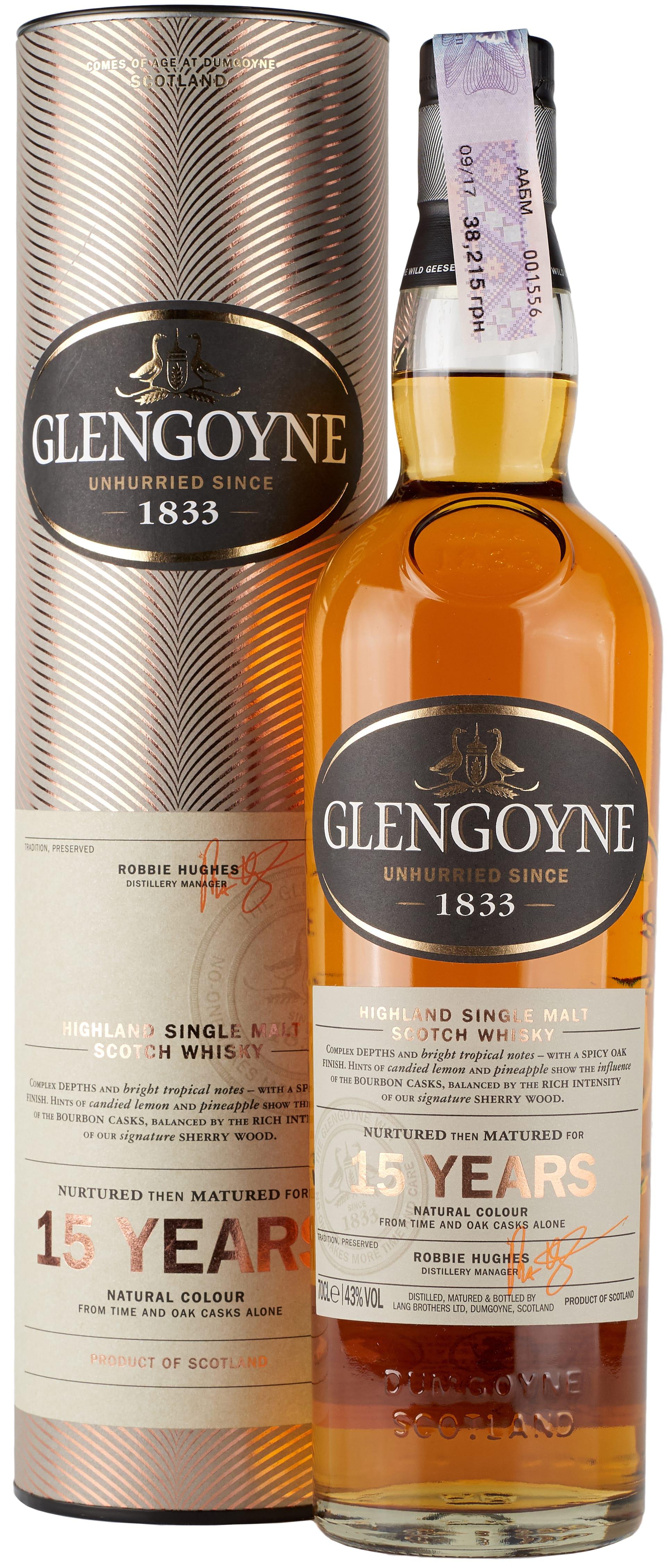 Glengoyne 15 Years Old фото