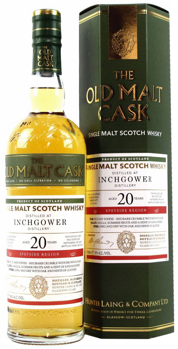 1995 Hunter Laing Old Malt Cask Inchgower 20 Years Old фото