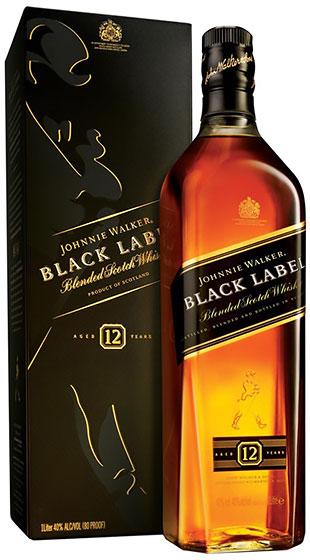 John Walker & Sons Black Label 12 Years Old 1 liter фото