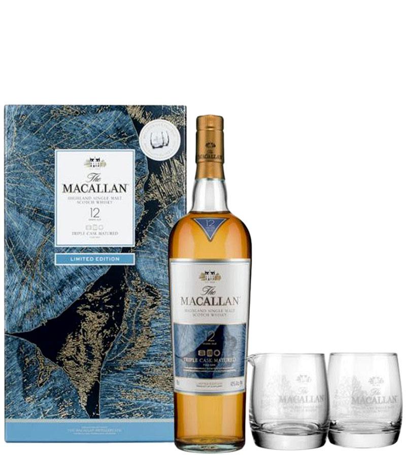 Macallan Fine Oak 12 Years Old, Gift Box & glasses фото