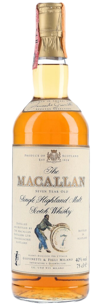 Macallan 7 Year Old Single Malt Release 1980 фото