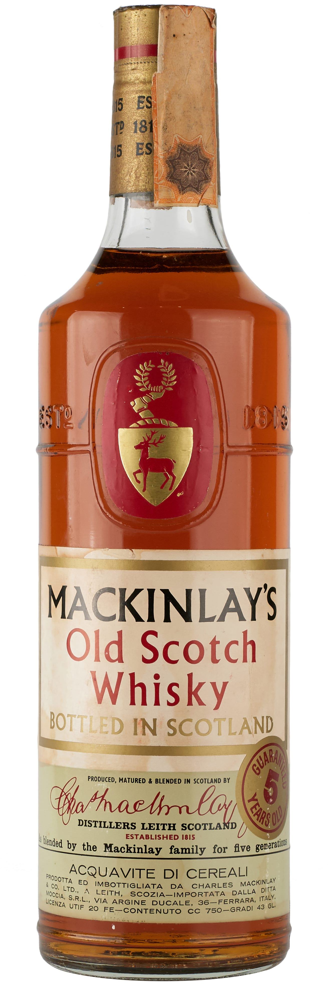 MacKinlay's Old Scotch Whisky 5 Years Old фото