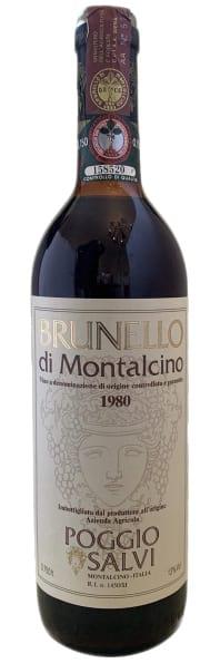 1980 Poggio Salvi Brunello di Montalcino фото