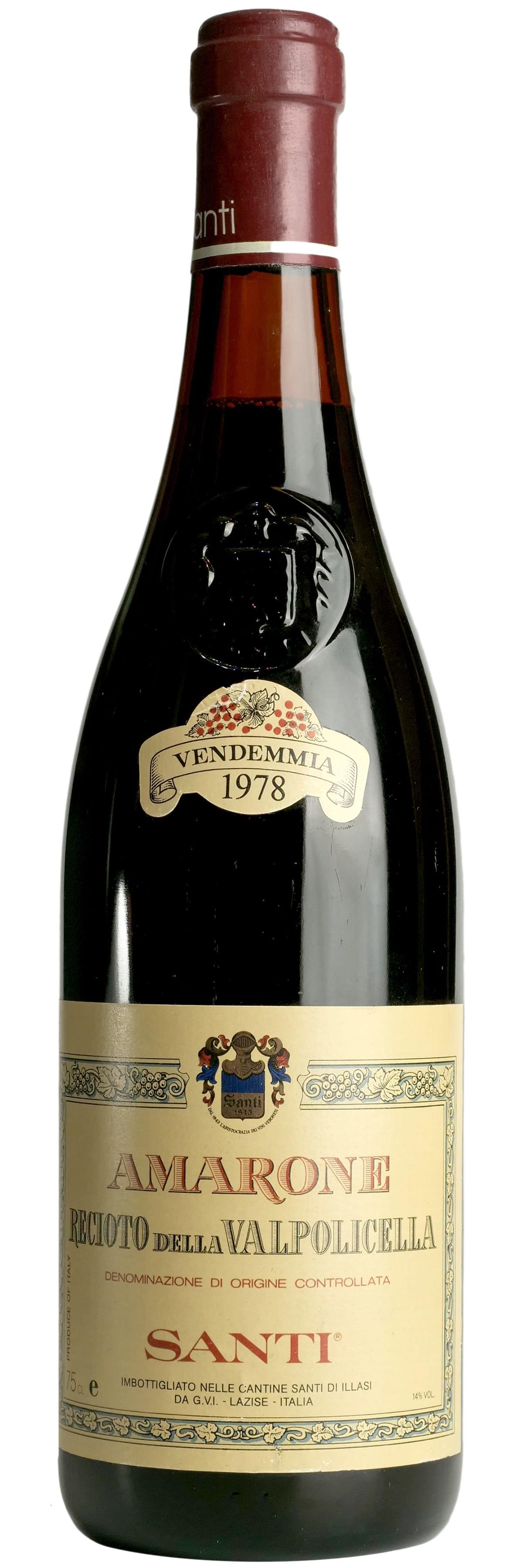 1978 Santi Amarone Recioto della Valpolicella фото