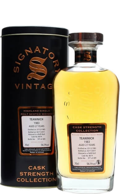 1983 Signatory Teaninich 27 Years Old Cask Strength Collection фото