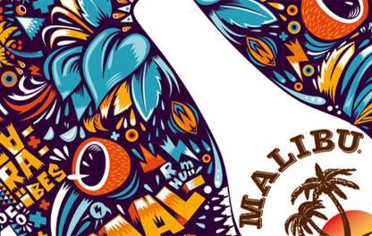Креативный дизайн бутылок Malibu - фото