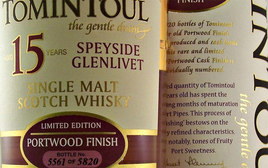 Виски Tomintoul Portwood Finish - фото