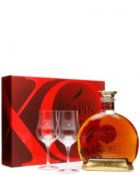 Frapin VIP XO gift box with 2 glasses фото