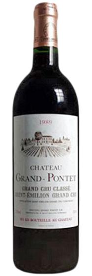 Chateau Grand-Pontet Saint-Emilion, 1989 фото
