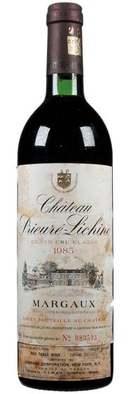 1985 Chateau Prieure-Lichine Margaux AOC фото