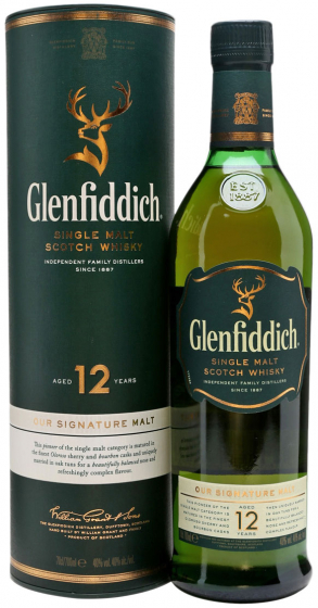 Glenfiddich 12 Years Old 1 liter фото