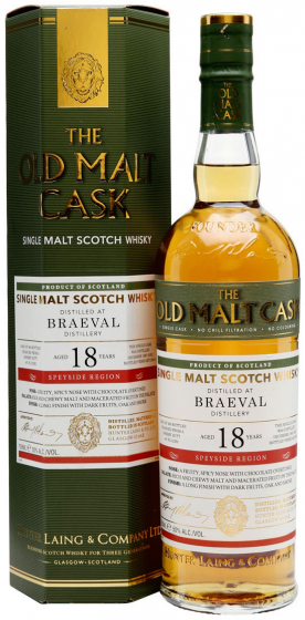 1997 Hunter Laing Old Malt Cask Braeval 18 Years Old фото