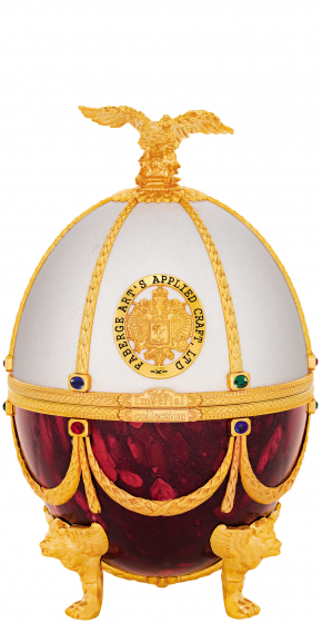 Ladoga Imperial Collection Faberge Egg Bordeaux White фото