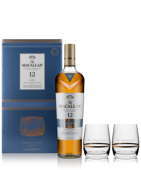 Macallan Triple Cask Matured 12 Years Old Limited Edition with 2 glasses фото