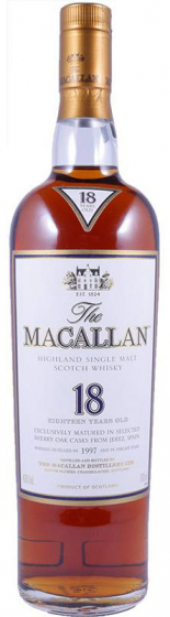 1997 Macallan Sherry Oak 18 Years Old фото