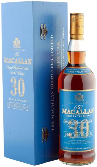 Macallan Sherry Oak 30 Years Old, Blue Label фото