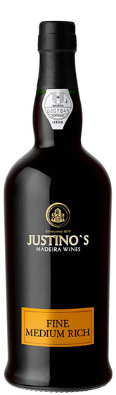 Мадера Justino's Madeira Fine Medium Rich 3 Years Old