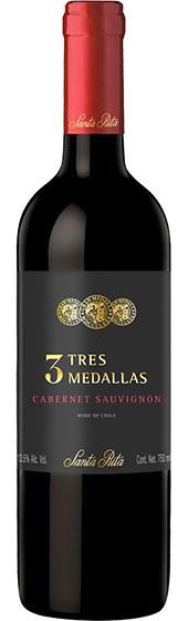 Вино Santa Rita Cabernet Sauvignon Tres Medallas, 2016
