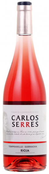 2017 Carlos Serres Tempranillo Garnacha Rose Rioja фото