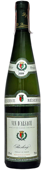 2007 Domaine Viticole de la Ville de Colmar Riesling Reserve фото