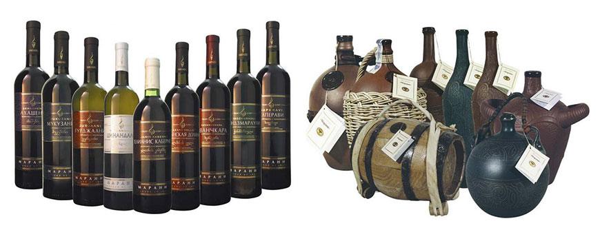 Сорта грузинских вин - фото бутылок